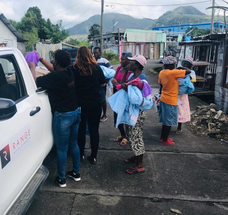 Range Developments Relief Work in Dominica