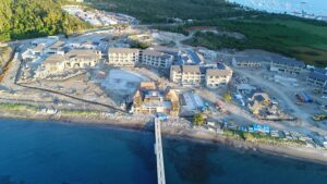view of construction on cabrits resort dominica