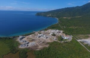 cabrits resort dominica construction view from plane
