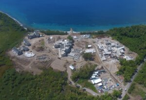 early construction view of cabrits resort dominica