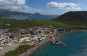 cabrits resort dominica progress on pier