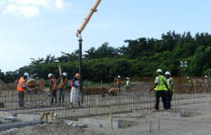 creating foundation for caribbean resort