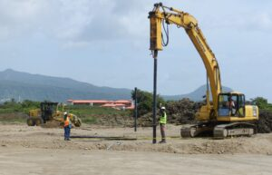 drilling foundation for cabrits resort dominica