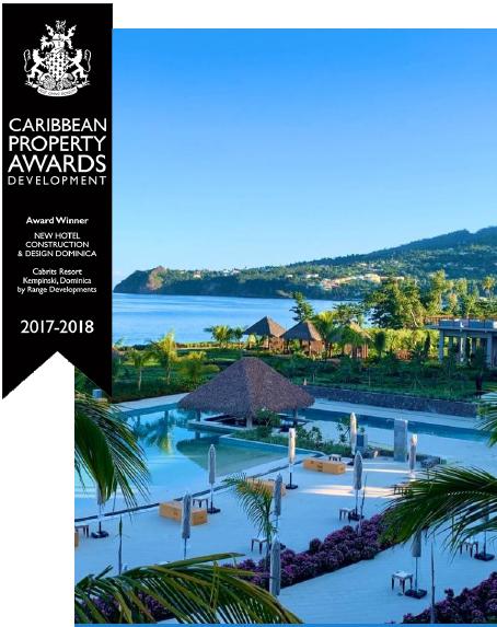 Cabrits Resort Dominica award.