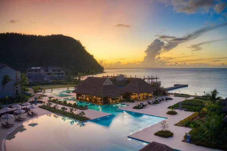 sunset view at the cabrits resort and spa dominica