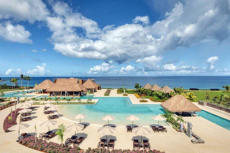 poolside at the cabrits resort and spa dominica