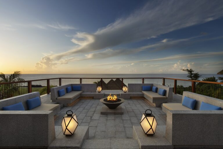 Cabrits_Fire pit at sunset_High Res_12809
