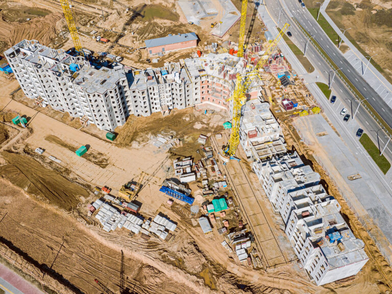 construction on CBI development project