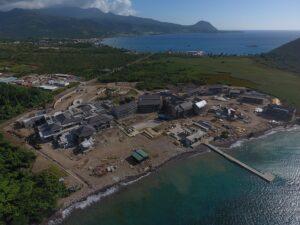 construction progress on the cabrits resort dominica