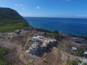 construction at cabrits resort dominica