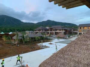 construction of cabrits resort & spa dominica nearing completion
