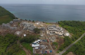 cabrits resort & spa dominica aerial view of construction