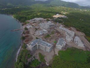 cabrits resort and spa aerial view of construction
