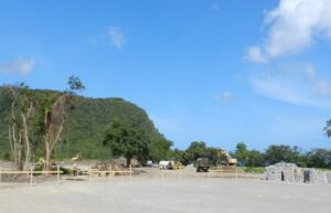 marking out foundations for cabrits resort & spa dominica