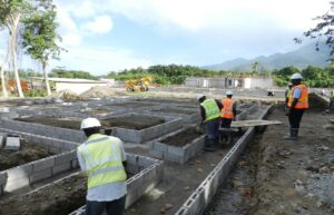 building foundation for cabrits resort & spa