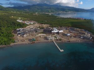 cabrits resort & spa dominica constrution aerial view