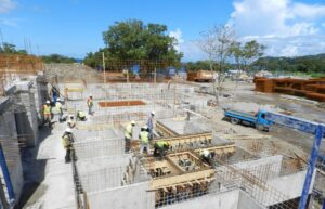 laying concrete at cabrits resort & spa dominica