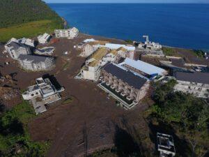 cabrits resort & spa dominica construction flyover