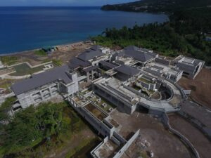 overhead view of cabrits resort & spa construction
