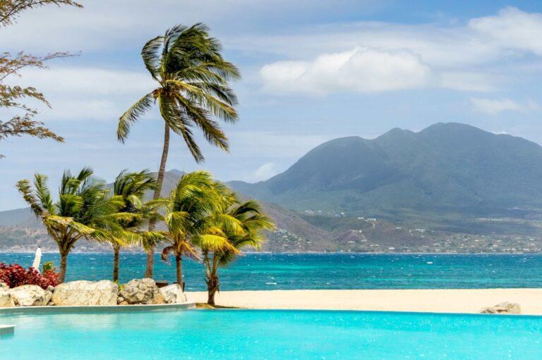 Park Hyatt St. Kitts pool next to beach
