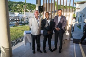 Kamal Shehada, Managing Director, Range Developments (left); Dr. the Right Hounorable Keith Mitchell, Prime Minister of Grenada (center); Mohammed Asaria, Managing Director, Range Developments(right).
