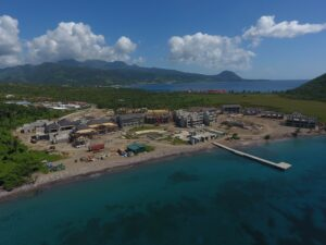 aerial view of cabrits resort & spa dominica construction